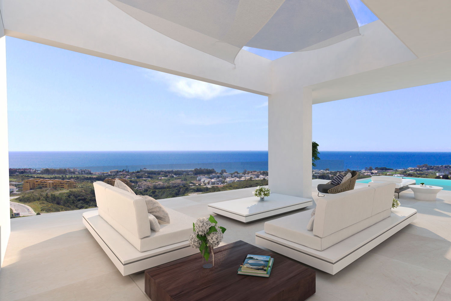 Created to enjoy the lovely climate and light of Andalusia all year round, the Villas are designed with large sliding doors to convert your terrace and pool into an extension of your lounge.